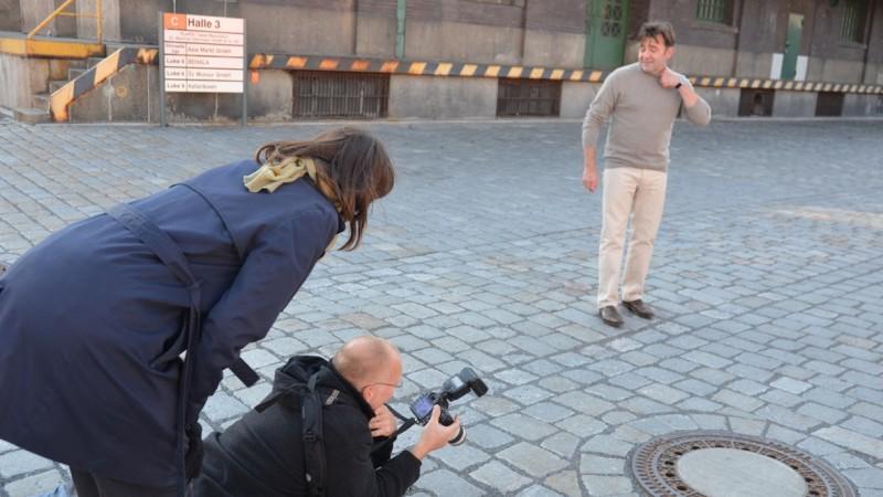 Das Fotoshooting: Hafenstimmung in Berlin?